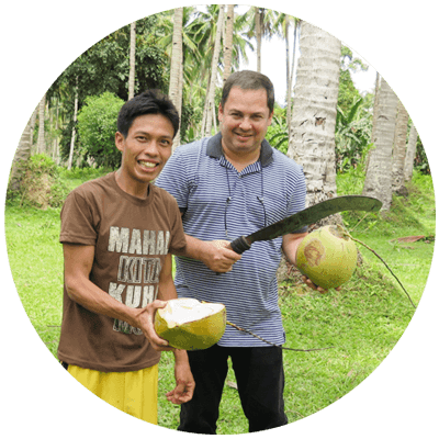 Discover the story of CocoZone 100% pure coconut water. Support us and help others.