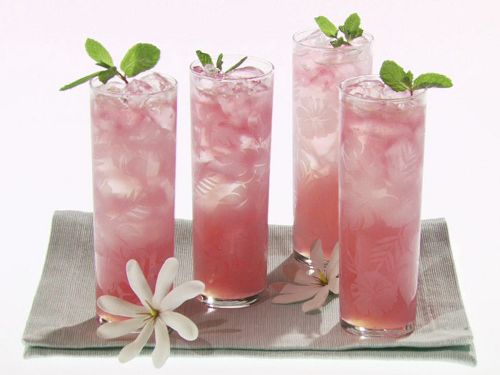 coconut water cocktail pink drink
